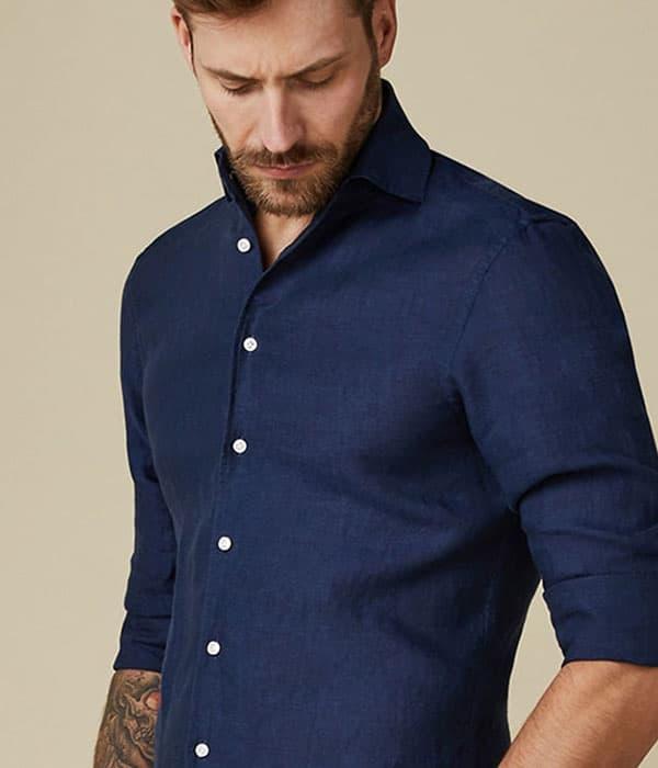 Man wearing european style shirt